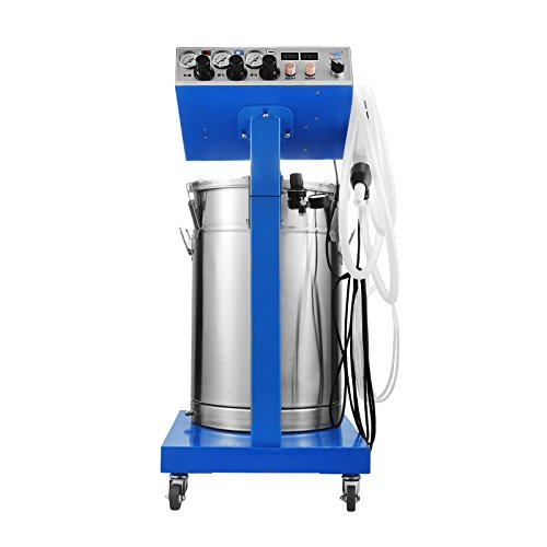 succebuy Pulverbeschichtung Maschine 13,2m³/h Pulverbeschichtung Gun Paint 4m 45L Powder Coat Spritzpistole mit Kabel Pulverbeschichtung Kit -