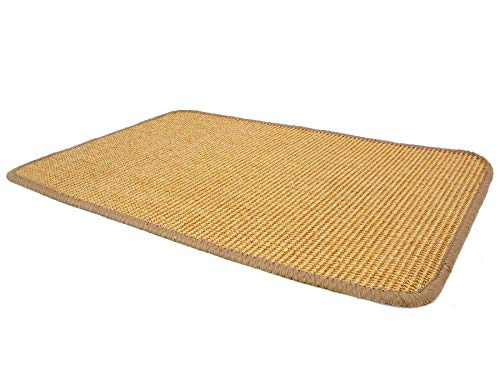 *Primaflor – Ideen in Textil Sisalteppich Sisallux – 1,00m x 2,00m, Natur, Rutschfest ✓ Für Fußbodenheizung ✓ Sisalmatte als Teppich-Läufer, Brücke & Vorleger, Küchenläufer*