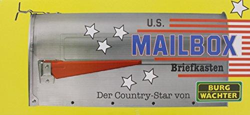 BURG-WÄCHTER, US-Mailbox mit schwenkbarer Fahne, Aluminium, 891 S, Schwarz - 5
