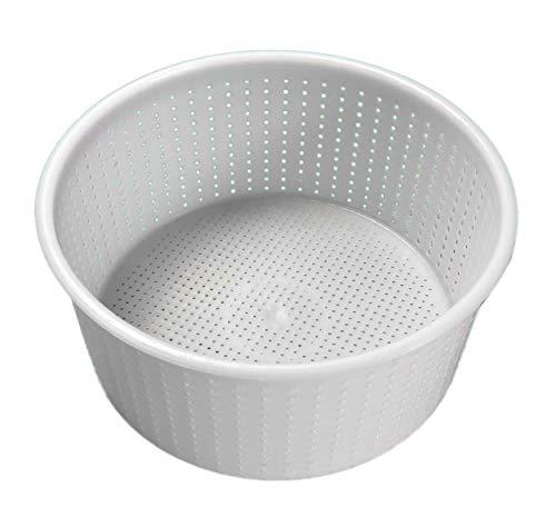 1 Pezzo fuscella da 1,8/2 kg per formaggio - caciotta - Ricotta ecc. diametro sup. cm. 21 - diametro inferiore cm. 19,8 - alte cm. 10