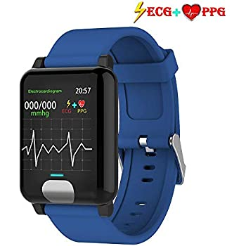 MEISHENG Fitness Tracker HR, Iswim Color Screen ECG PPG Reloj ...