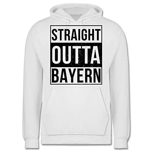 Bayern Männer - Straight Outta Bayern Schwarz - JH001 Herren Kapuzen Pullover Weiß