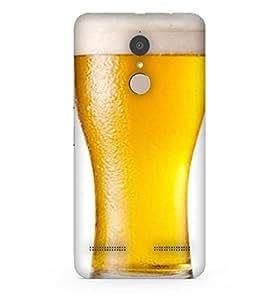 Snoogg Beer Filled In Glass Designer Protective Back Case Cover For Lenovo K6 Power