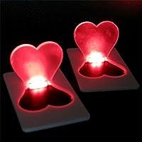 Bluelover Pieghevole carta lampada carina cuore dolce luce LED tasca lampadina portafoglio carta regalo Greeting Card