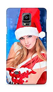 Amez designer printed 3d premium high quality back case cover for Samsung Galaxy Note 4 (Christmas (22))
