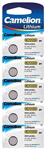 CAMELION Pack de 5 piles Camelion Lithium CR1220 3V