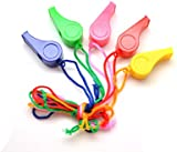 Pack of 10 Plastic Whistle On Cord