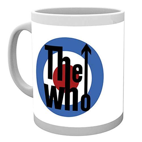 The Who Kaffeetasse Classic MOD Target Band Logo Quadrophenia Nue offiziell Weiß
