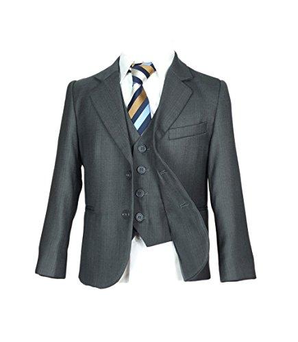 SIRRI Italian Schnitt Jungen Dunkelgrau Anzug, Pagenjunge Hochzeit Ball Kommunion Jungen Anzug - Dunkelgrau, 164