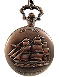 "Dice Leader PW-RG404"" Unisex Antique case Classic Vintage Rib Chain Quartz, Steel Gray Metallic Tone Rose Gold Outer Body Shows Beautiful Embossed Ship."