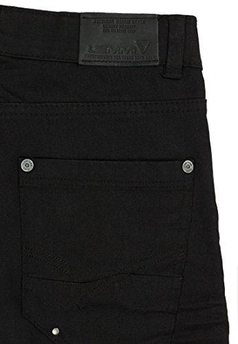 Lemmi Hose Jeans Boys Tight Fit Slim, Pantalon Garçon Noir - black denim 0010
