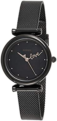 Fossil Carlie Mini Women's Black Dial Stainless Steel Analog Watch - ES
