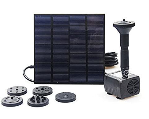 BACOENG Solar Fountain Pump With 1.4W 200LPH