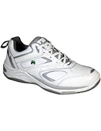 Ladies Henselite LPS44 Quality Leather Lawn Bowls Shoes Wider Fit White