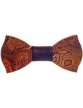 Ellys - Pajarita - para hombre marrón Madera Talla única