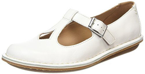 Clarks Tustin Talent, Damen Ballerinas, Weiß (Off White Lea), 38 EU (5 Damen UK)