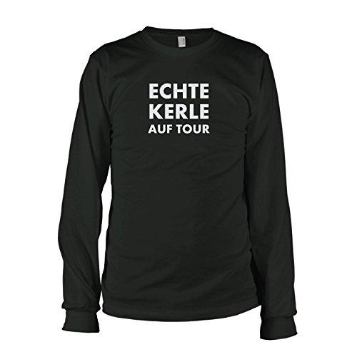 TEXLAB - Echte Kerle auf Tour - Langarm T-Shirt Schwarz