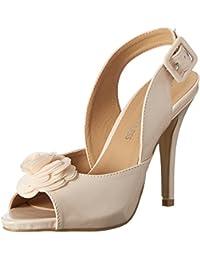 Head Over HeelsAshleigh - Zapatos de Tacón con Punta Cerrada Mujer, Color Gris, Talla 38