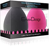 EmaxDesign 2 Piece Makeup Blender Sponge Set, Foundation Blending Blush Concealer Eye Face Powder Cream Cosmetics Makeup Sponges. latex free, non-allergenic and odour free.