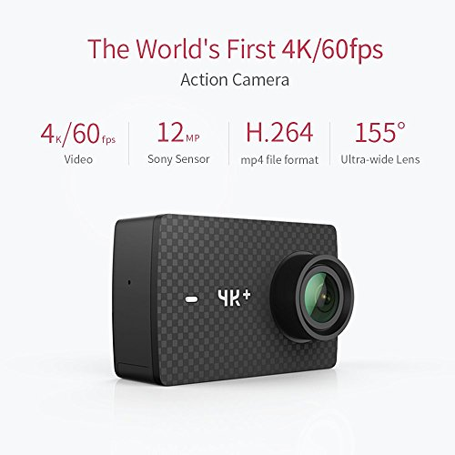 "Best Price YI 4K Plus Sports Action Camera Ultra HD 4K/60fps 12MP Wifi Helmet Camera with 2.2"" LCD Touch Screen Voice Control (Black with Waterproof Case)"