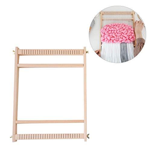 Sanmubo Multifunktional Stricken Weben aus Holz Webstuhl Pädagogisches DIY Brokat Modell Strickmaschine Strickwerkzeuge Set Gobelin-Weberei Spielzeug für Kinder ab 6 Jahren und Erwachsene