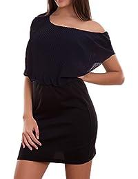 52f01b20479b Toocool - Vestito donna miniabito abito corto pliss  velato maniche corte  nuovo CJ-2136