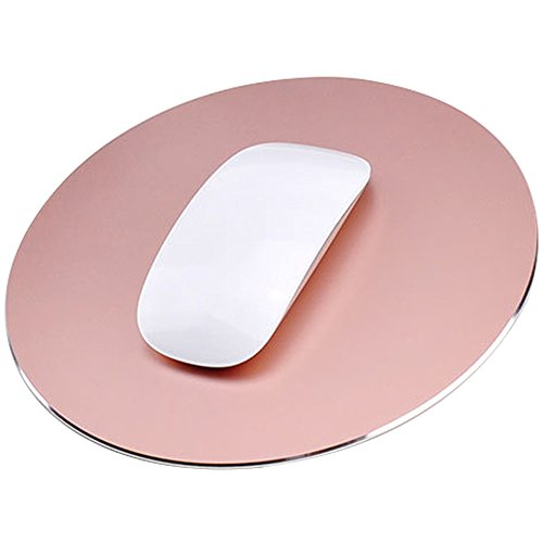 Delmkin Mauspad NEU Design Aluminium Mouse Pad Laptops Mouse Pad - 220*220mm (Rose Gold)