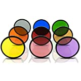 Opteka 67mm HD Kit de filtres de couleur unie Effet spécial multicouches pour appareils photo reflex numériques Comprend: Rouge, Orange, Bleu, Jaune, Vert, marron, Violet, Rose Et Gris ND filtres