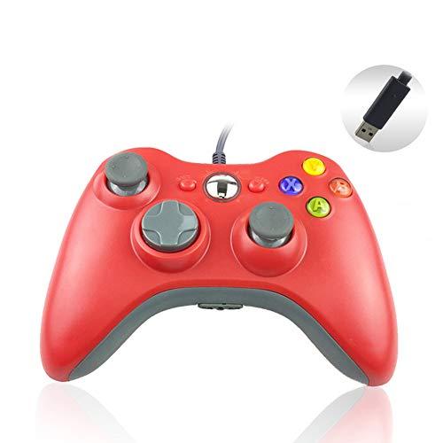 BONNIO Xbox 360 PC Game Controller Gamepad USB Wired Spalle Bottoni Joypad Gaming Joystick rot
