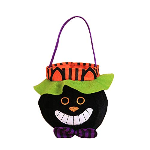 Syliababy Halloween Kinder Puppe Candy Sweet Jar Box Kinder Vorratsdosen Party House Decor Sackleinen Geschenk Tasche Wiederverwendbare Lagerung Eimer Festival Tote Bag (E)