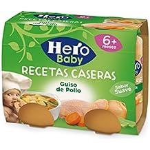 Hero Baby  Potito Guiso con Pollo, 6m+ - Pack de 2 x 190 g - Total: 380 g