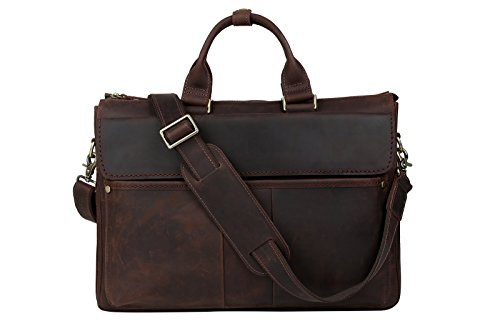 Leder-handtasche Tote-schulter-handtasche (Tiding Herren Jahrgang Echtleder 16