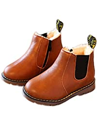 7e00f18f1a82 HUHU833 Kids Boys Girls Winter Snow Warm Ankle Boots Zipper Child Chelsea  Shoes