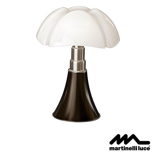 Martinelli Luce Pipistrello LED 14 W Dimmable Lampe de table tête de Moro Marron