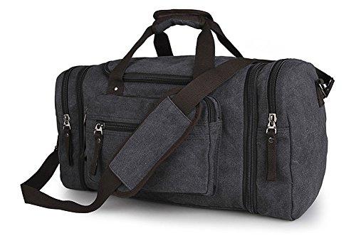Everdoss Unisexe sac de bagage en toile sac à main sac à bandoulière sac de voyage de grande capacité sac de loisirs