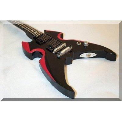 Stanley-gitarre Paul (PAUL STANLEY Miniatur Gitarre KISS Silverstone)