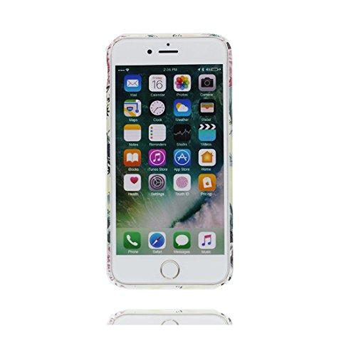 iPhone 6s Custodia, Copertura iPhone 6 4.7, | Peso leggero ultra sottile Silicone Gel Soft Gel | Cartoon Fashion iPhone 6S Case - Margherite Fiore, Antigraffio e ring supporto Color 6