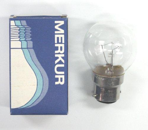 Tropfenbirne klar 25W Glühbirne B22 Bajonett Sockel Glühlampe Tropfenlampe (Bajonett-sockel)