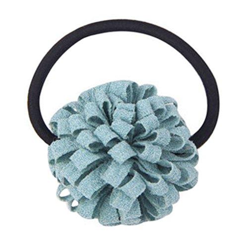 2PCS Élégant Elastics Elastiques fleur Ponytail titulaires filles, Bleu clair