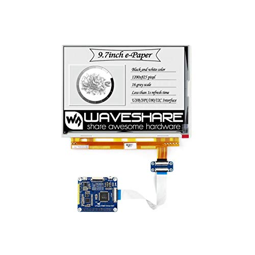 1200x825,9.7inch E-Ink Display HAT for Raspberry Pi,IT8951 Controller, USB/SPI/I80/I2C Interface