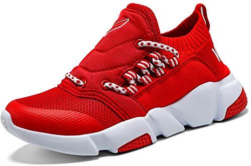 VITIKE Unisex-Kinder Sneakers Jungen Mädchen Sneaker Outdoor Schuhe Jungen Turnschuhe Laufschuhe Schnürer Freizeit Schnürer Sportschuhe Sneaker -