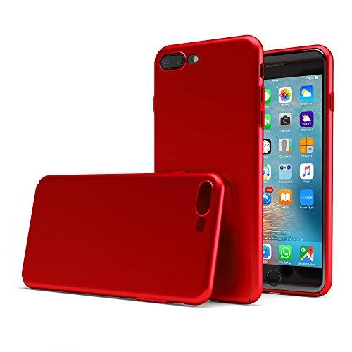 "CoverStyle® Custodia UltraSoft® Sottile 1.0mm Rigida con Effetto Opaco Soft-Touch per iPhone 7 Plus (5.5"") - Rosso Opaco"