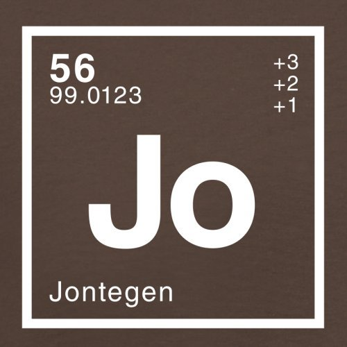 Jonte Periodensystem - Herren T-Shirt - 13 Farben Schokobraun