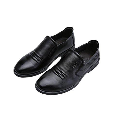 Uomini Moda Affari Tempo Libero Scarpe Black