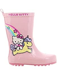 Hello Kitty Girls Kids Rainboots Boots, Botas de Agua para Niñas