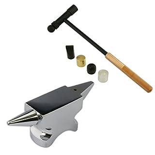 Jewellers Tools Horn-Amboss-Astschere, Set mit 6teilig,