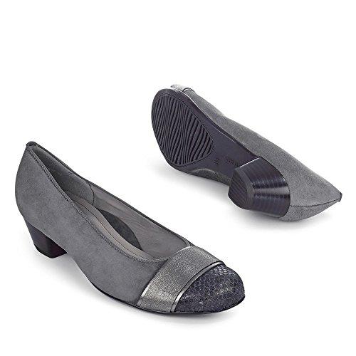 Escarpins Messina noirs gris moyen
