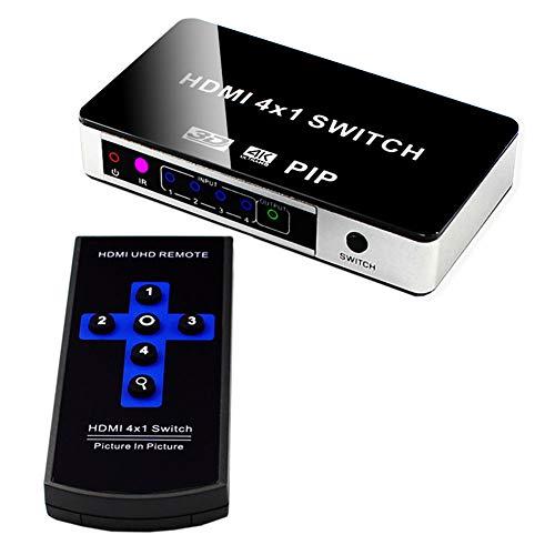 WQGNMJZ Schalter, HDMI-Schalter, HDMI-Switcher, Splitter, hdmi-Schalter, HD-Video-Splitter, Vier in und eins aus, 4 Schnitt 1, HDMI-Switcher