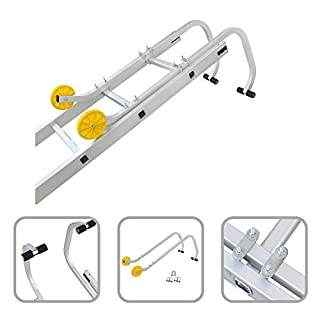 Todeco - Ladder Roof Hook, Universal Roof Hook for Ladder - Maximum load: 330 lbs - Material: Steel - 3.1 feet, EN 131