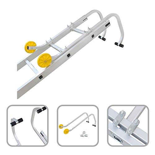 Todeco - Leiter-Dachhaken, Universal-Dachhaken für Leiter - Maximale Belastbarkeit: 150 kg - Material: Stahl - 0,93 Meter, EN 131